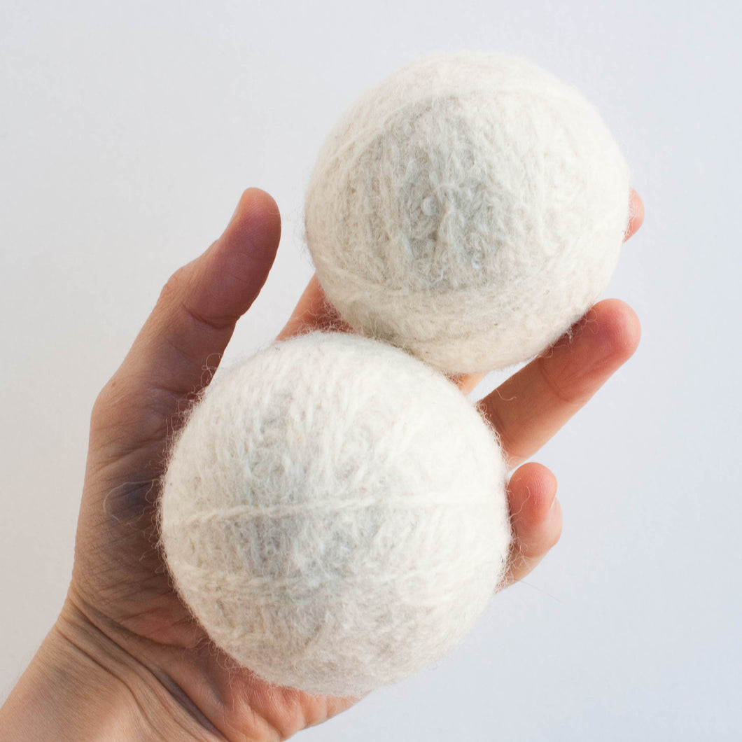wool dryer balls - set of two