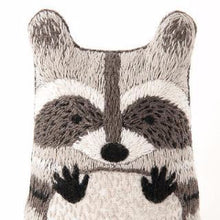 DIY embroidered doll starter kit: racoon