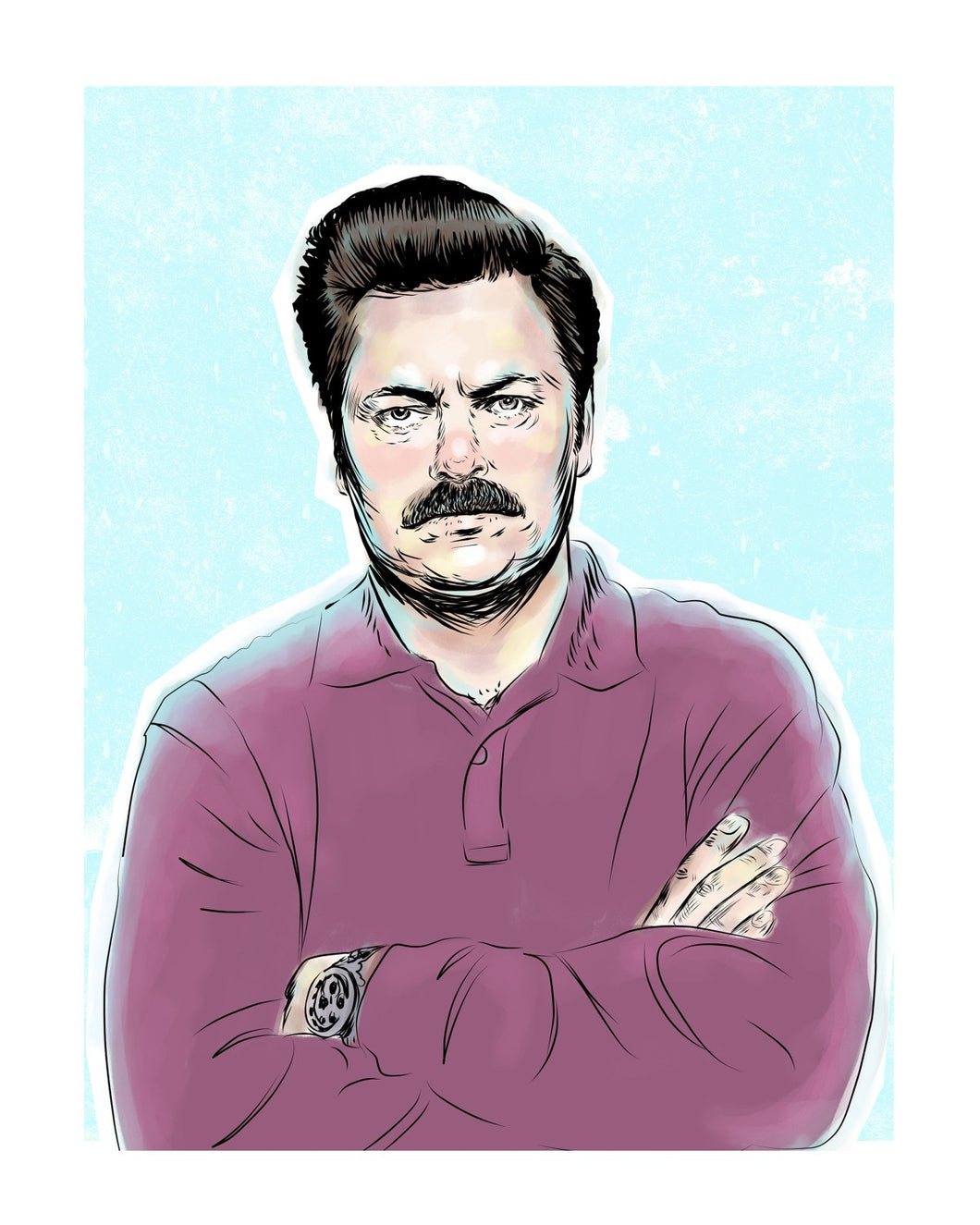 Ron Swanson (Parks and Recreation) 8x10 print