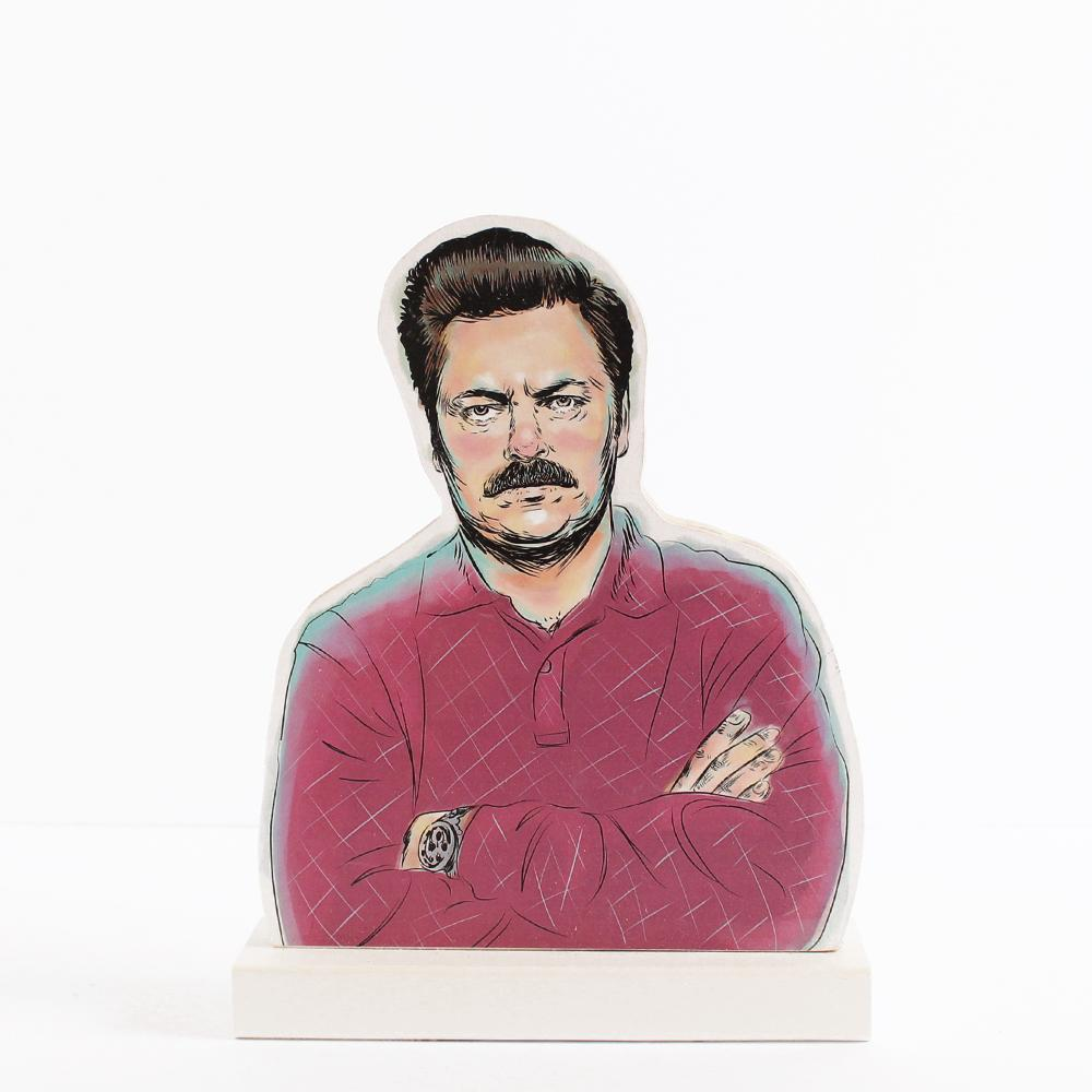 Ron Swanson (Parks and Recreation) wooden standee