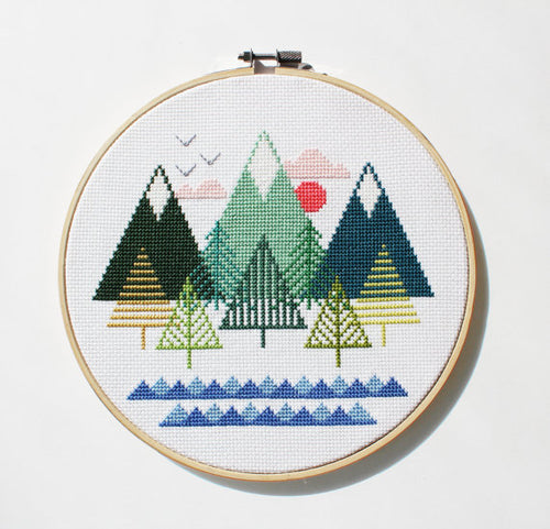 DIY cross stitch kit: sea to sky
