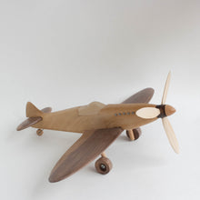 "wooden ""spitfire"" airplane"