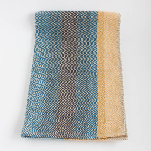 handwoven cotton tea towel - horizon