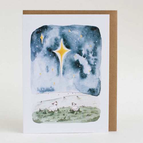 christmas starry night card