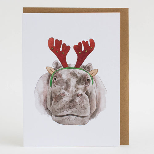 hippo holiday card