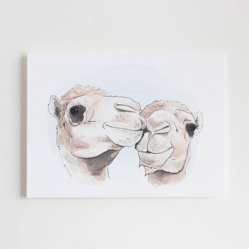 lovely camels greeting card