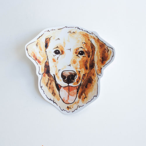 golden retriever vinyl sticker
