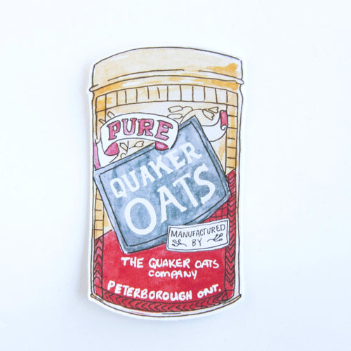quaker oats sticker