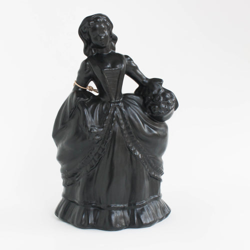 decorative black ceramic figurine