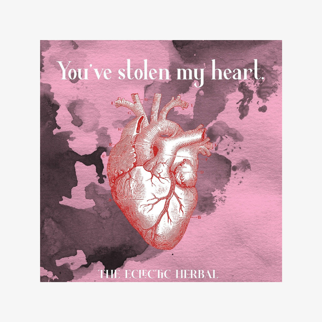 you've stolen my heart - greeting card
