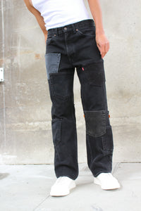 Black Pocket Cargos