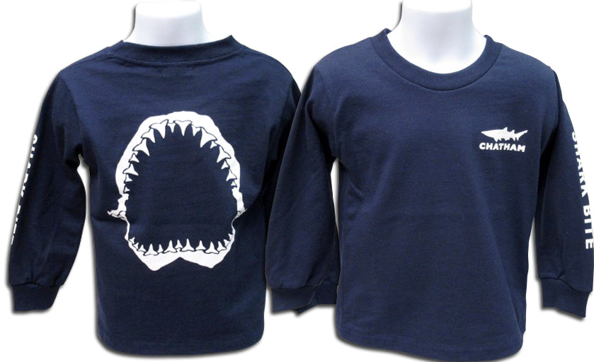 TODDLER/INFANT Sharkbite Glow Ink Long Sleeve Tee