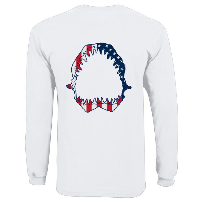 Youth Sharkbite Patriotic Flag Long Sleeve