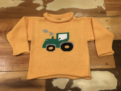 Infant/Kids/Toddler Roll Neck Sweater with Tractor
