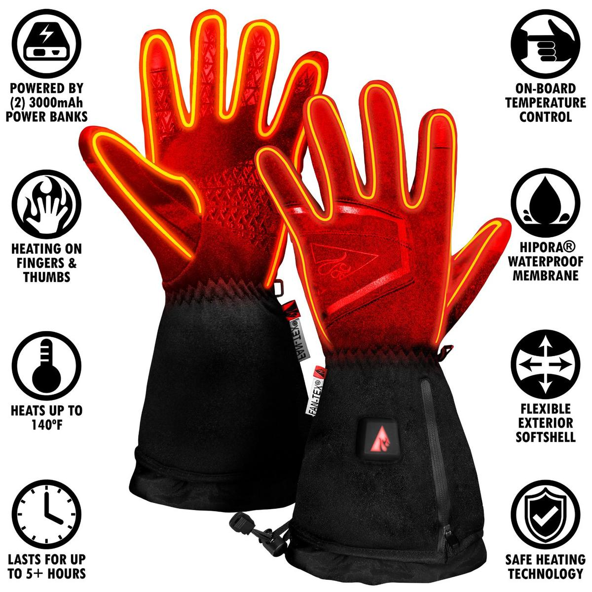 ActionHeat 5V Women's Featherweight Heated Gloves - Info