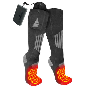ActionHeat Cotton 3.7V Rechargeable Heated Socks 2.0 with Remote - Heated