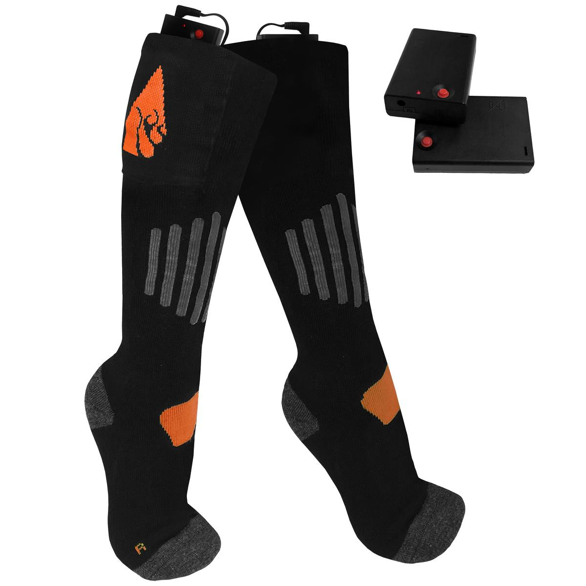 ActionHeat AA Battery Heated Socks - Wool - Size