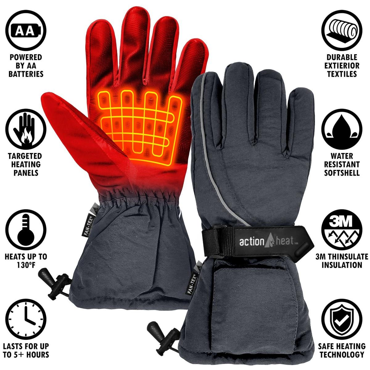 ActionHeat AA Battery Heated Gloves - Men's - Info