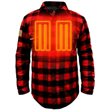 ActionHeat 5V Battery Heated Flannel Shirt - Front