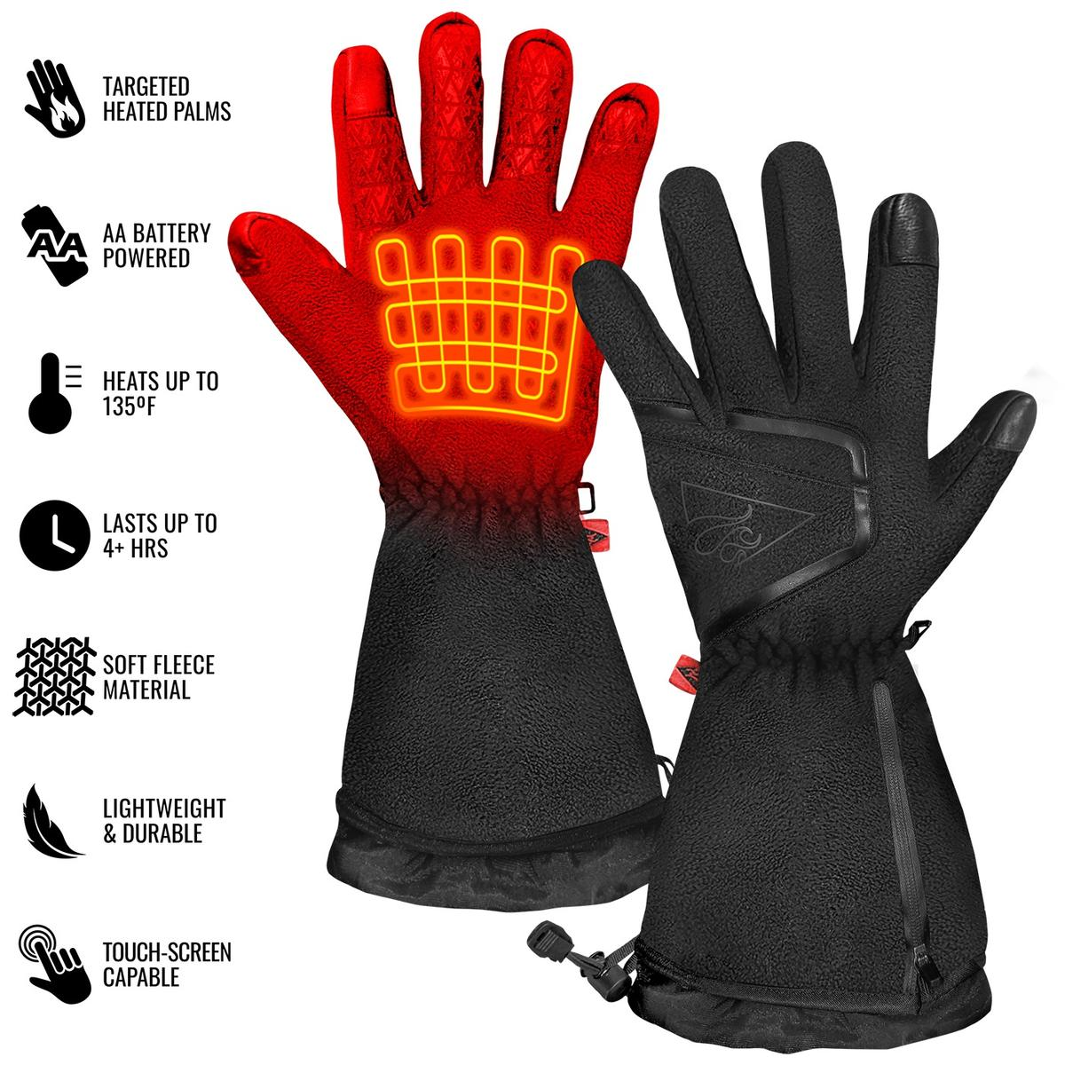 ActionHeat AA Men's Fleece Heated Gloves 2.0 - Back