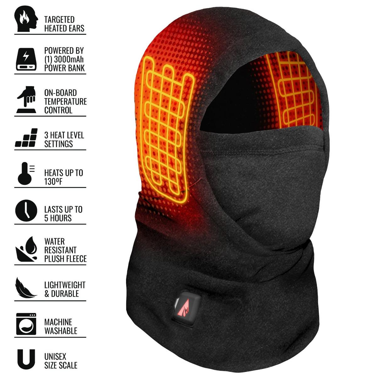 ActionHeat 5V Battery Heated Fleece Balaclava - Info