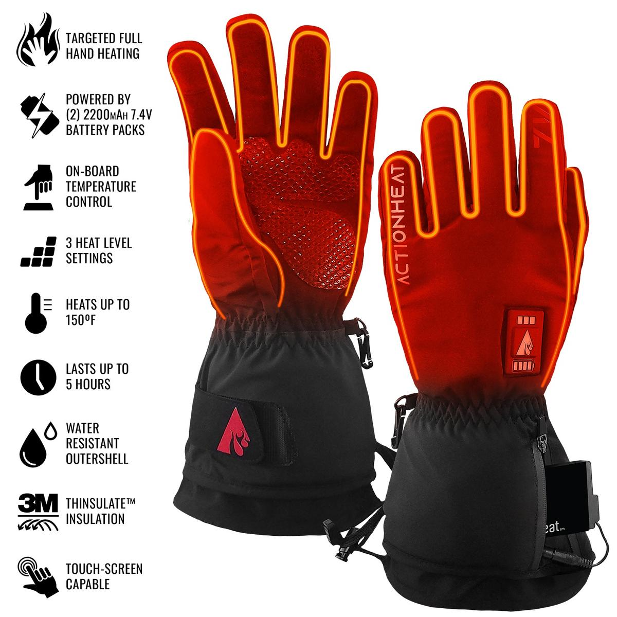 ActionHeat 7V Men's Everyday Heated Gloves - Back