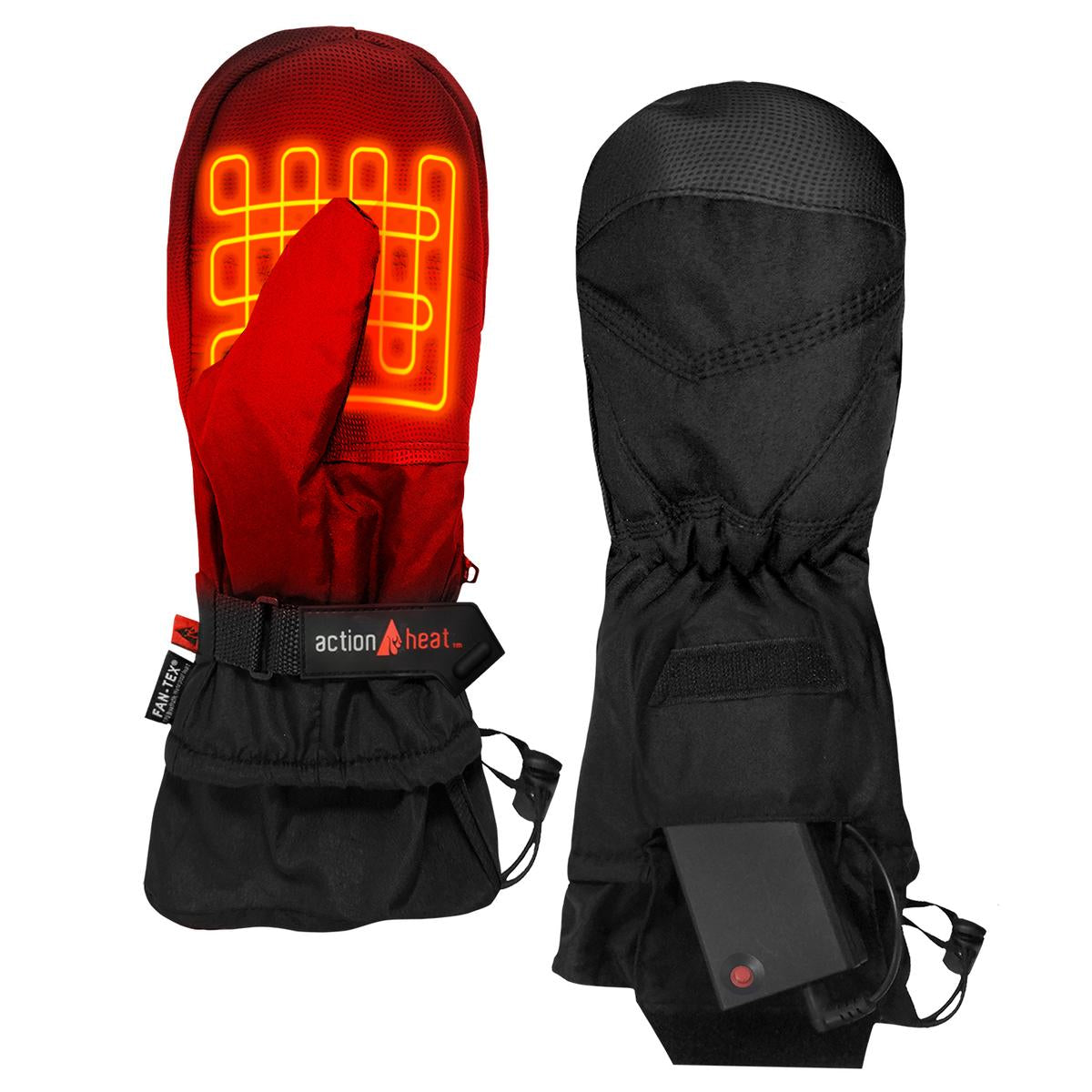 ActionHeat AA Battery Heated Mittens - Back