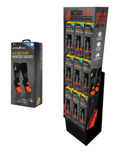 ActionHeat AA Wool Socks 18-piece display
