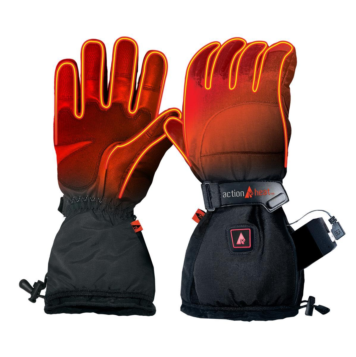 Open Box ActionHeat 5V Battery Heated Snow Gloves - Men's - Front