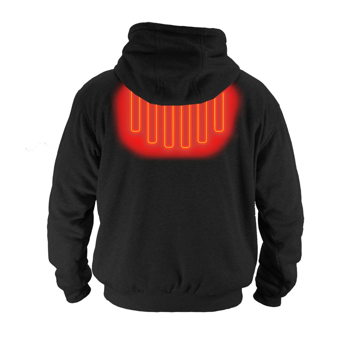 Open Box ActionHeat 5V Battery Heated Hoodie Sweatshirt - Back