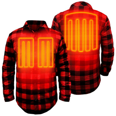 Open Box ActionHeat 5V Battery Heated Flannel Shirt - Back