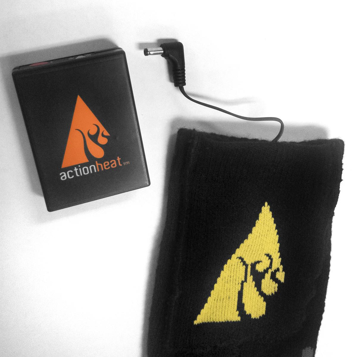 ActionHeat 3.7V Rechargeable Battery Heated Socks - Cotton - Battery