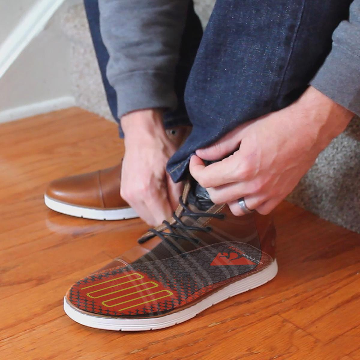 ActionHeat Rechargeable Heated Insoles with Remote - Size