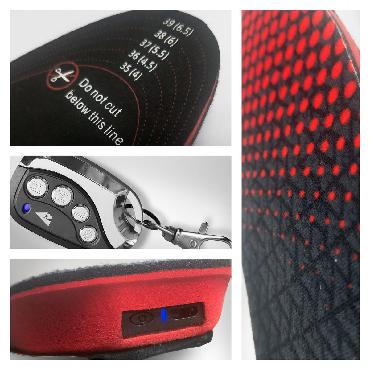 ActionHeat Rechargeable Heated Insoles with Remote - Right