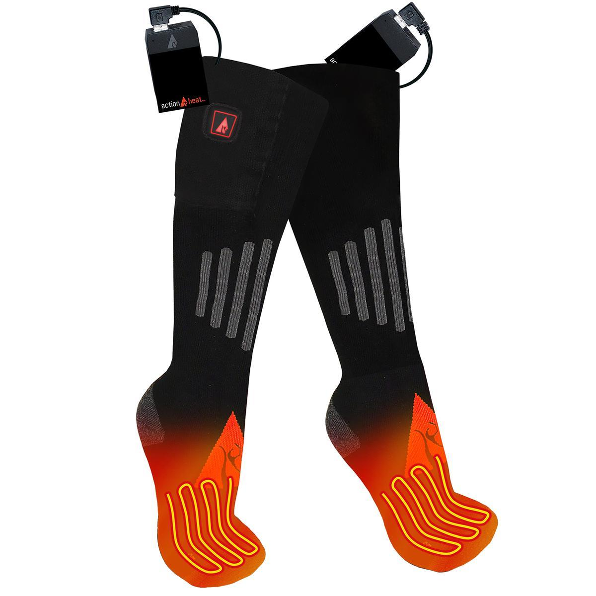 Open Box ActionHeat 5V Battery Heated Socks - Wool - Back