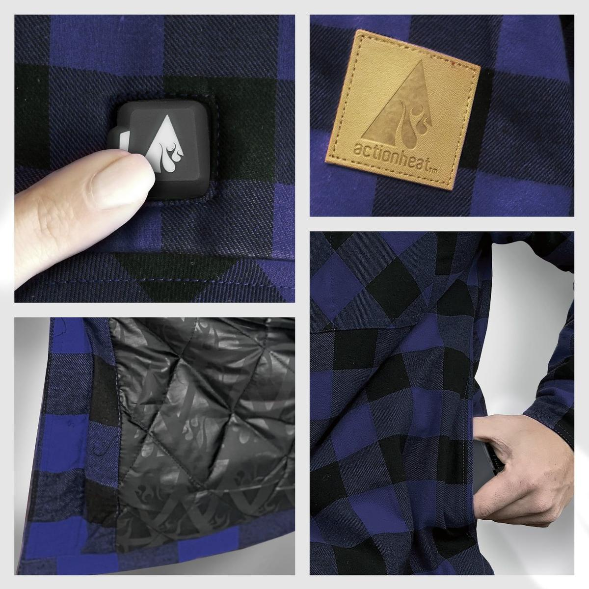 ActionHeat 5V Battery Heated Flannel Shirt - Full Set