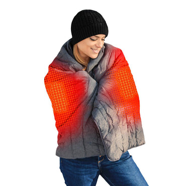 ActionHeat 7V Battery Heated Throw Blanket - Back