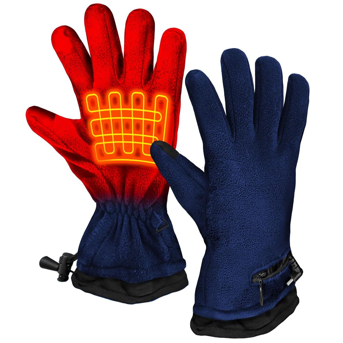 ActionHeat AA Battery Heated Fleece Gloves - Back