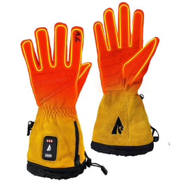 ActionHeat 7V Rugged Leather Heated Work Gloves - Front