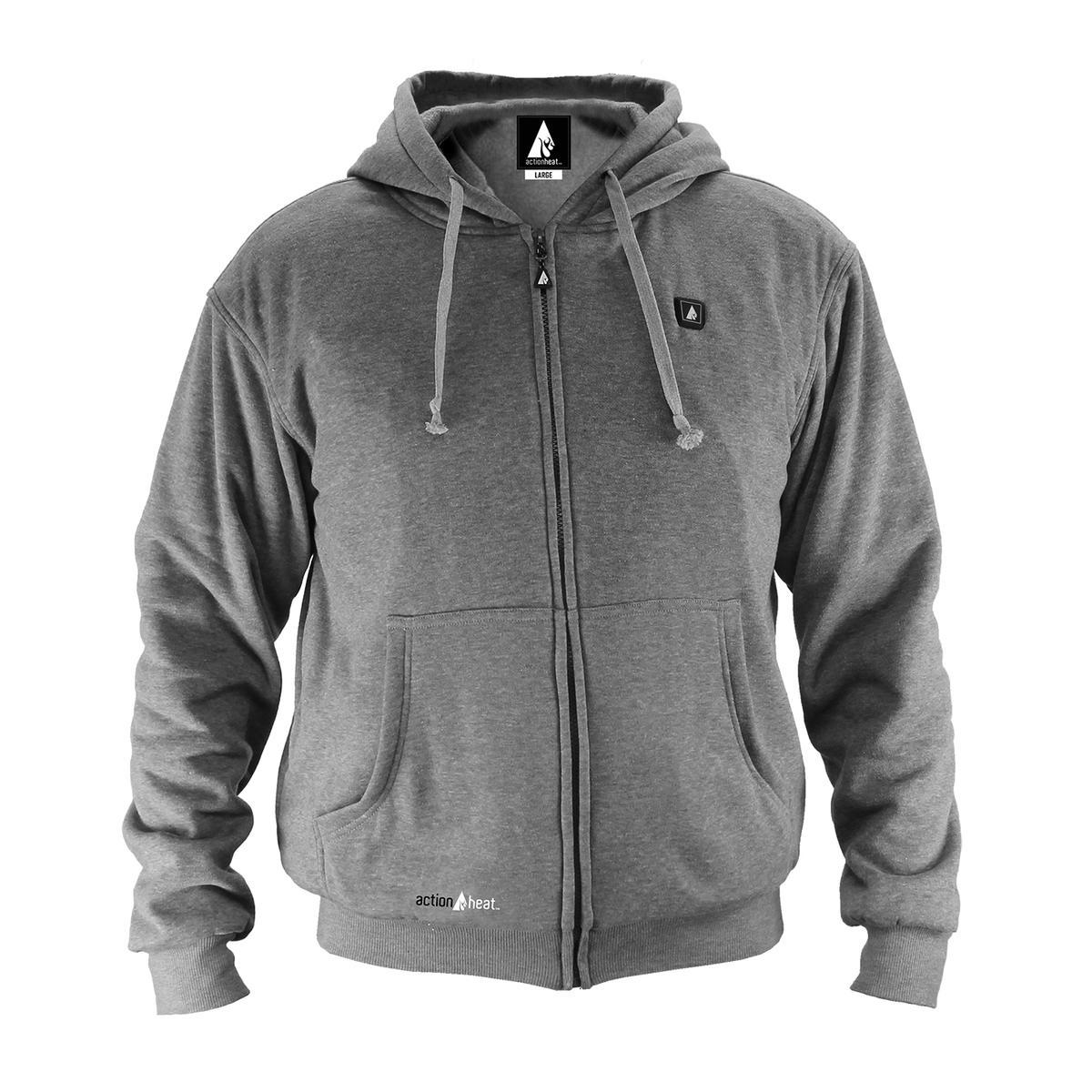 Open Box ActionHeat 5V Battery Heated Hoodie Sweatshirt - Front
