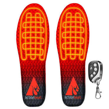 ActionHeat Rechargeable Heated Insoles with Remote - Heated