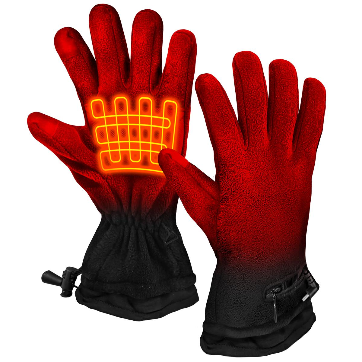 ActionHeat AA Battery Heated Fleece Gloves - Front