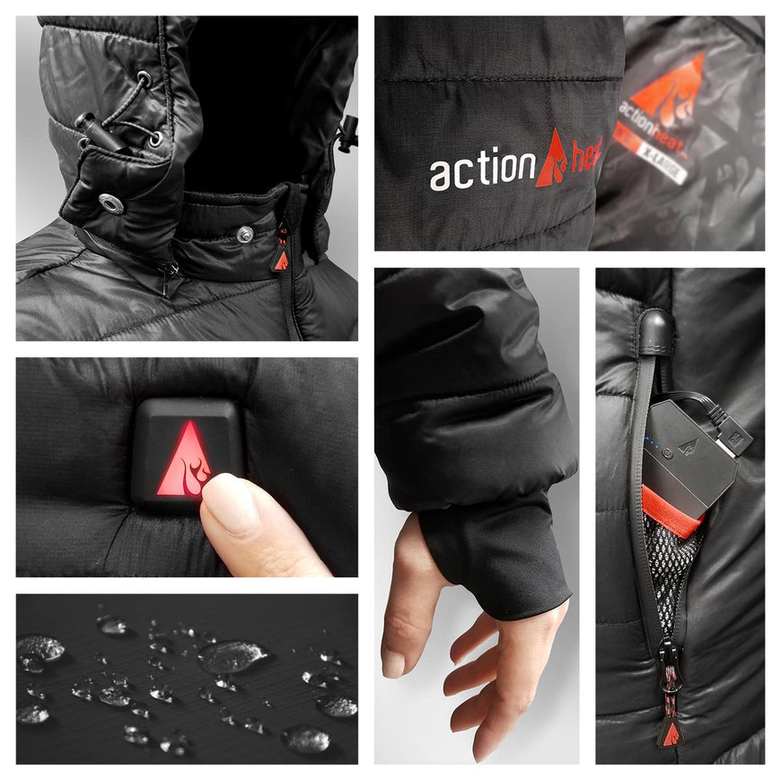 ActionHeat 5V Battery Heated Puffer Jacket for Kids - Full Set