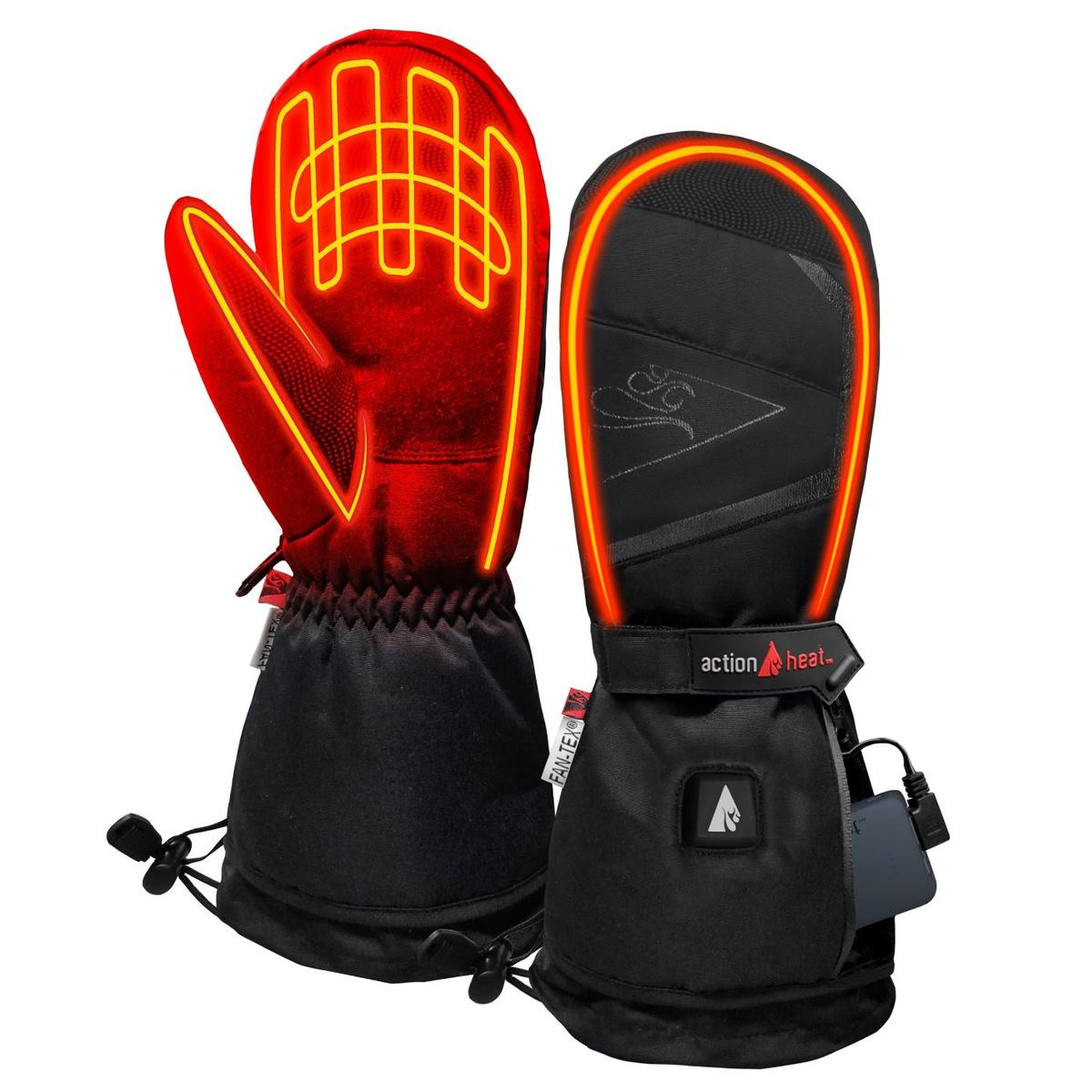 ActionHeat 5V Battery Heated Mittens - Back