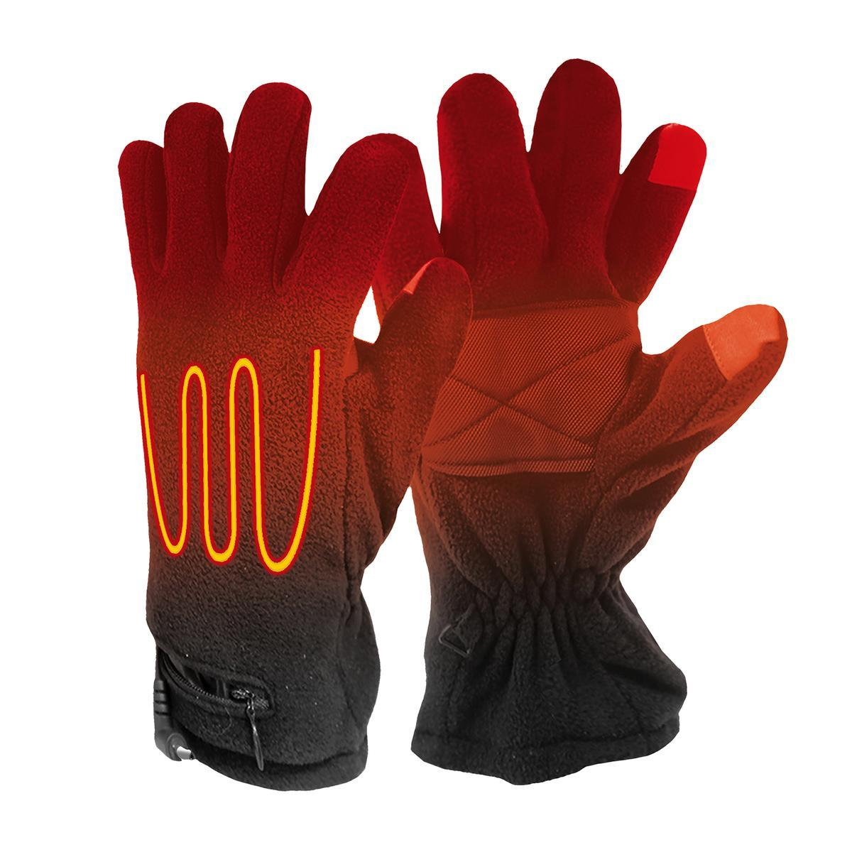 Open Box ActionHeat AA Battery Heated Fleece Gloves - Front