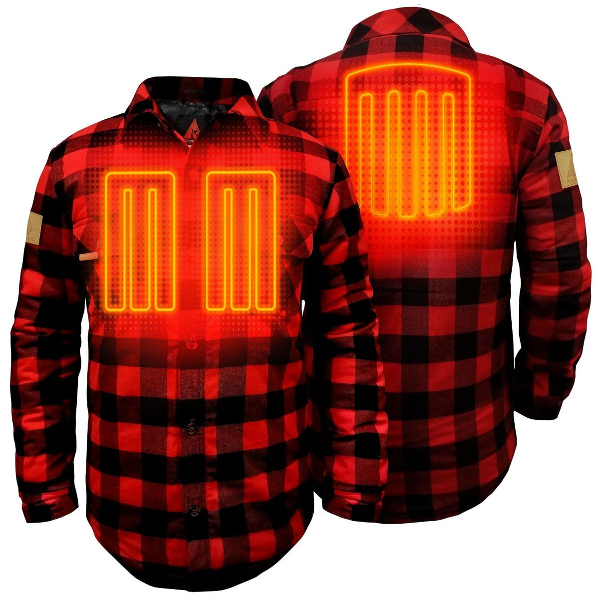 ActionHeat 5V Battery Heated Flannel Shirt - Back