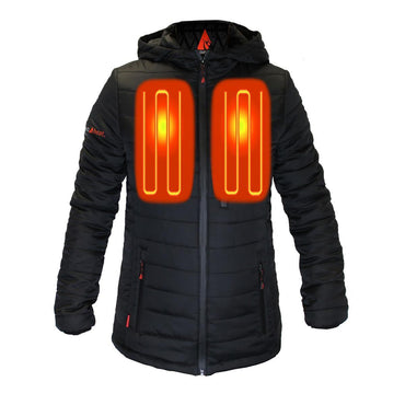 Open Box ActionHeat 5V Battery Heated Insulated Puffer Jacket W/ Hood - Women's - Front