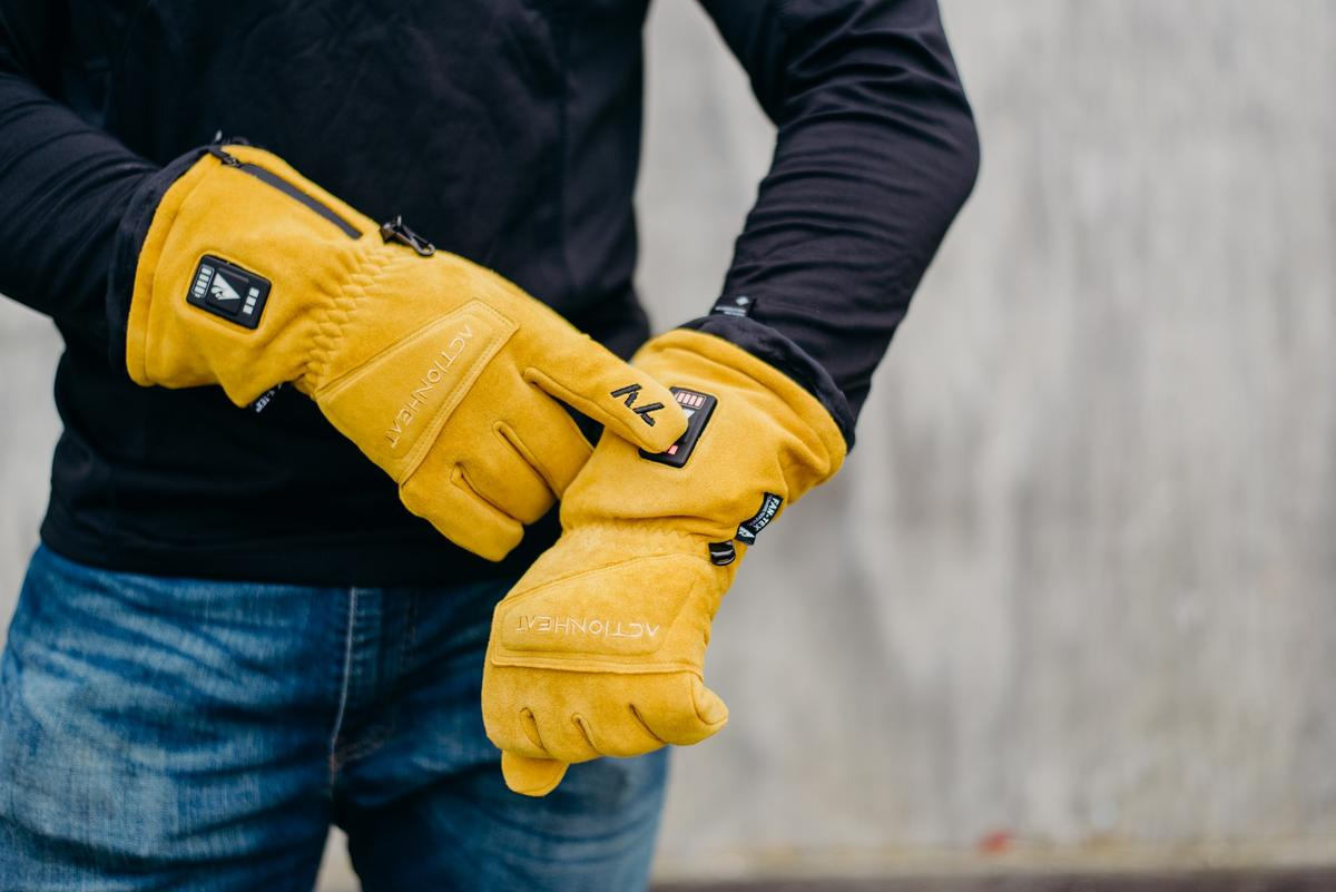 ActionHeat 7V Rugged Leather Heated Work Gloves - Info
