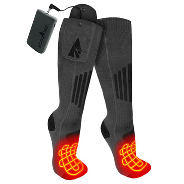 ActionHeat Wool 3.7V Rechargeable Heated Socks 2.0 with Remote - Heated