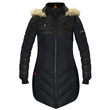 Open Box ActionHeat 5V Heated Long Puffer Jacket W/ Hood - Women's - Front